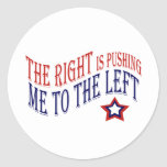 The Right is Pushing Me to the Left, Star Sticker