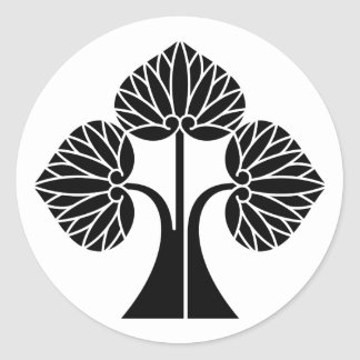 The right it leaves and stands the mallow classic round sticker