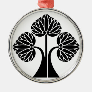 The right it leaves and stands the mallow metal ornament