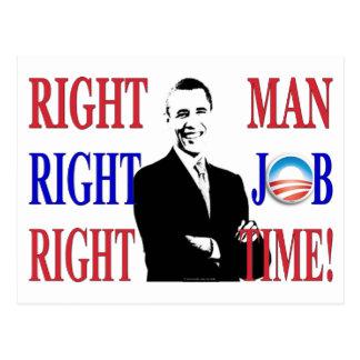 The RIGHT MAN Postcard