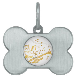 The Right Note Pet ID Tag
