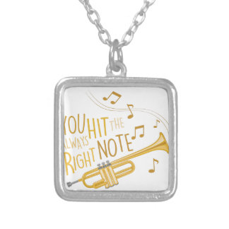 The Right Note Silver Plated Necklace