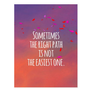 The Right Path Postcard