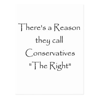 The Right Reason Postcard