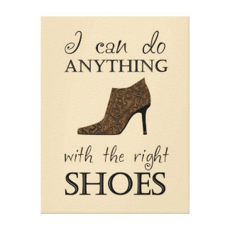 The Right Shoes Canvas Print