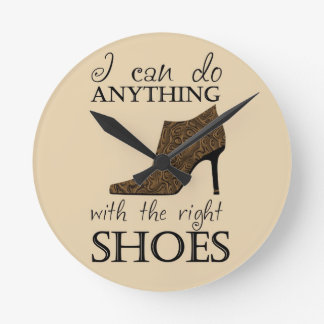The Right Shoes Round Wallclocks