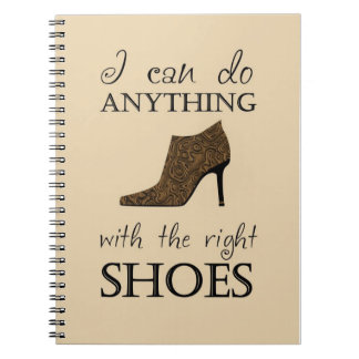 The Right Shoes Spiral Notebooks