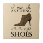 The Right Shoes Small Square Tile