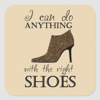 The Right Shoes Square Sticker