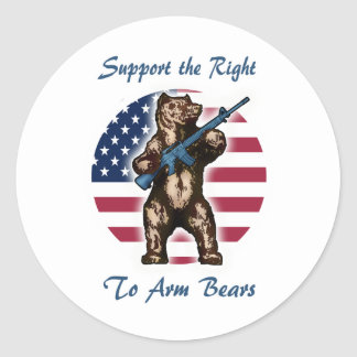 The Right to Arm Bears Classic Round Sticker
