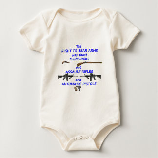 The right to bear arms baby bodysuit