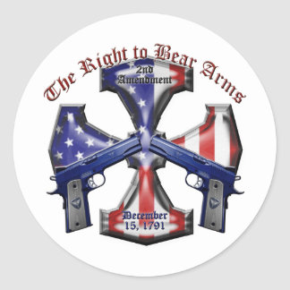 The Right To Bear Arms Classic Round Sticker