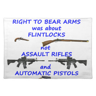 The right to bear arms cloth placemat