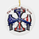 The Right To Bear Arms Double-Sided Ceramic Round Christmas Ornament