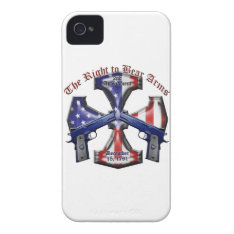 The Right To Bear Arms Iphone 4 Case-mate Case at Zazzle