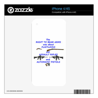 The right to bear arms iPhone 4 decals