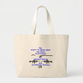 The right to bear arms large tote bag