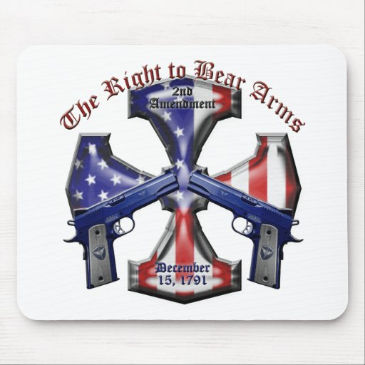 The Right To Bear Arms Mouse Pad