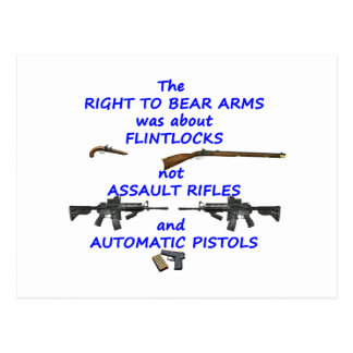 The right to bear arms postcard