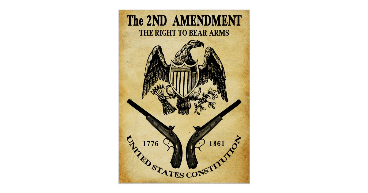 The Right To Bear Arms Poster | Zazzle