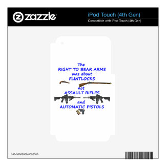 The right to bear arms skins for iPod touch 4G