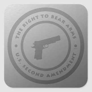 The Right To Bear Arms Square Sticker