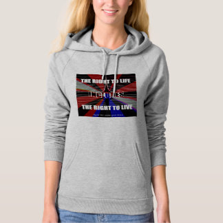 The right to life = the right to live bullet-free hoodie