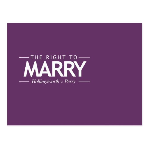 THE RIGHT TO MARRY NOW POSTCARD