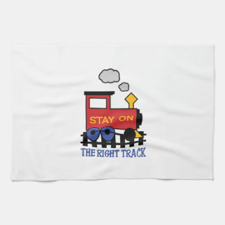 THE RIGHT TRACK KITCHEN TOWEL