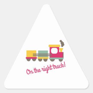 The Right Track Triangle Sticker