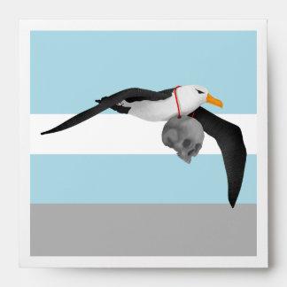The Rime of the Ancient Mariner Albatross Skull Envelope
