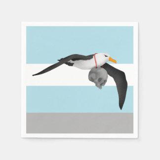 The Rime of the Ancient Mariner Albatross Skull Napkin