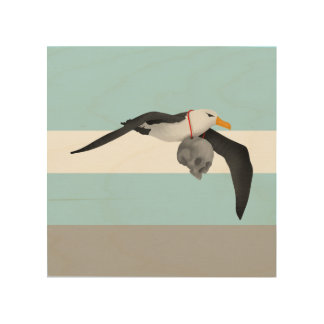 The Rime of the Ancient Mariner Albatross Wood Print