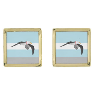 The Rime of the Ancient Mariner Remix Albatross Gold Cufflinks