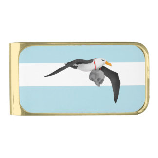 The Rime of the Ancient Mariner Remix Albatross Gold Finish Money Clip