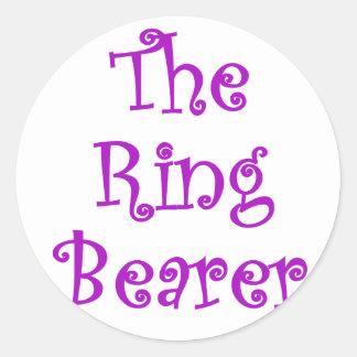 The Ring Bearer Classic Round Sticker