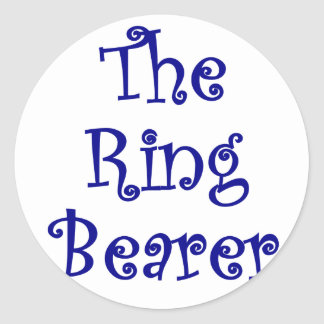 The Ring Bearer Round Stickers