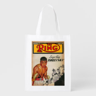 The Ring Magazine Cover 2 Reusable Grocery Bag