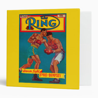 The Ring Magazine Cover 3 Ring Binder