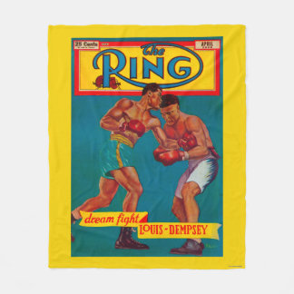 The Ring Magazine Cover Fleece Blanket