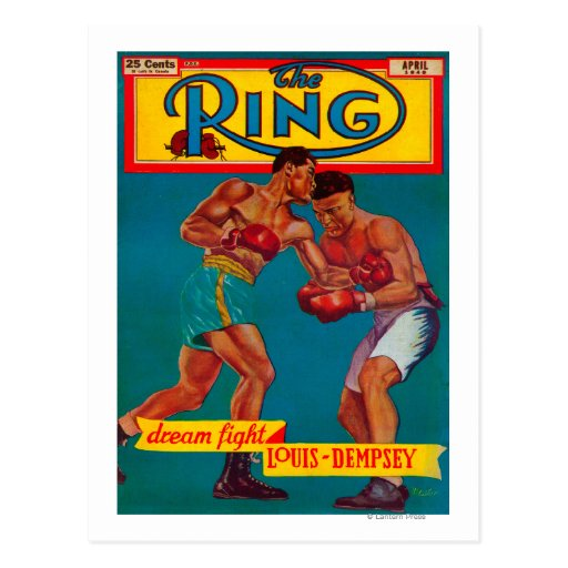 The Ring Magazine Cover Postcard