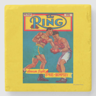 The Ring Magazine Cover Stone Coaster