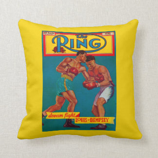 The Ring Magazine Cover Throw Pillow