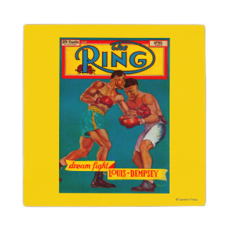 The Ring Magazine Cover Wooden Coaster