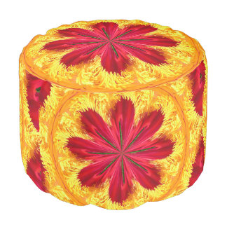 The Ring of Fire Round Pouf