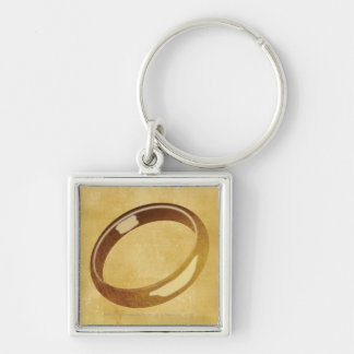 The Ring Silver-Colored Square Keychain