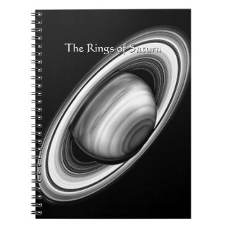 The Rings of Gas Giant Saturn - solar system image Spiral Note Book