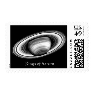 The Rings of Gas Giant Saturn - solar system image Postage Stamps