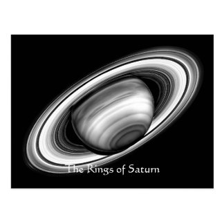 The Rings of Gas Giant Saturn - solar system image Post Card