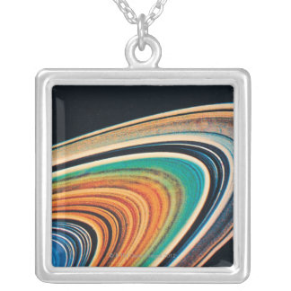 The Rings of Saturn 2 Silver Plated Necklace